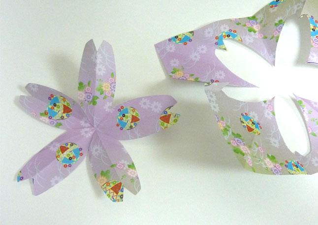 切り紙 桜